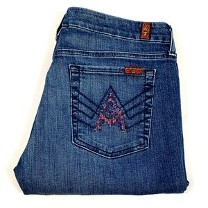 """7 for All Mankind 32 x 32 Med Wash """"A Pockets"""""""